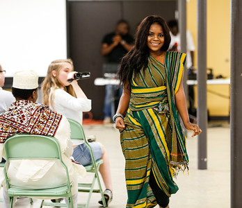 Models wear traditional Somalian clothing at the Somali Cultural Night.