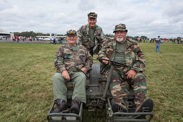 Members of the Kilroy Chapter of the Military Vehicle Preservation Association Wayne Klotz Sr., Leo Dauby and Bill Scott.