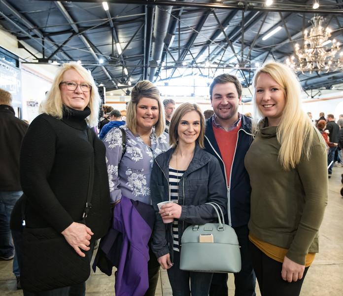 Marcia Linhart, Kelly Guthrie, Destiny McCauley, Landon Hall and Katie Linhart.