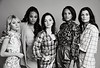 Demetria McKinney, Amalia Holm, Taylor Hickson, Ashley Nicole Williams, Jessica Sutton, and Lyne Renee poses for a portrait at the 2020 Winter TCA Portrait Studio at The Langham Huntington, Pasadena on January 17, 2020 in Pasadena, California.