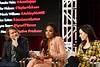 Eliot Laurence, Demetria McKinney and Amalia Holm speak during the 2020 Winter TCA Portrait Studio at The Langham Huntington, Pasadena on January 17, 2020 in Pasadena, California.