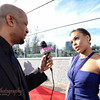 "V103 Interviews Demetria McKinney at the ""21st Annual Trumpet Awards"" on January 26, 2013"