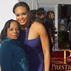 "Tara Robinson (from Prestige Magazine) & Demetria McKinney attends the ""21st Annual Trumpet Awards"" on January 26, 2013"