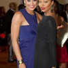 "Demetria McKinney & Eva Marcille attends the ""21st Annual Trumpet Awards"" on January 26, 2013"
