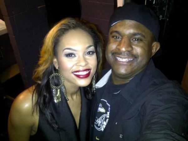 Allen Smith & Demetria McKinney backstage 'Anthony David Concert' - November 16, 2011
