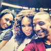 Aaliyah, Demetria McKinney and Victor Jackson attends the Atlanta Dream Game on September 27, 2013