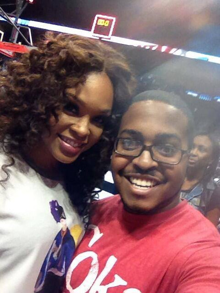 Demetria McKinney attends the Atlanta Dream Game on September 27, 2013