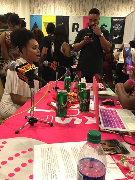 Demetria McKinney and Michelle Boyd at the BET Awards: Radio Room - June 23, 2017