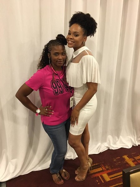 Demetria McKinney and Michelle Boyd at the BET Awards: Radio Room - June 23, 2017