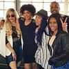 Keke Wyatt, Demetria McKinney, Anje Collins, DJ Fadelf and Jasmine Burke attends Bounce TV's Saints & Sinners Season 2 Celebratory Brunch at Suite Lounge on November 13, 2016 in Atlanta, Georgia.