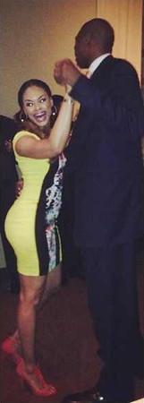 "Demetria McKinney & Dikembe Mutombo ""Dance Off"" During the ""CIAA"" Weekend in NC, March 2013"
