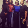 Ateya, Demetria McKinney, Jam Poet and Jam Poet's husband celebrating the launch of 'Platinum Wigs' on October 5, 2013
