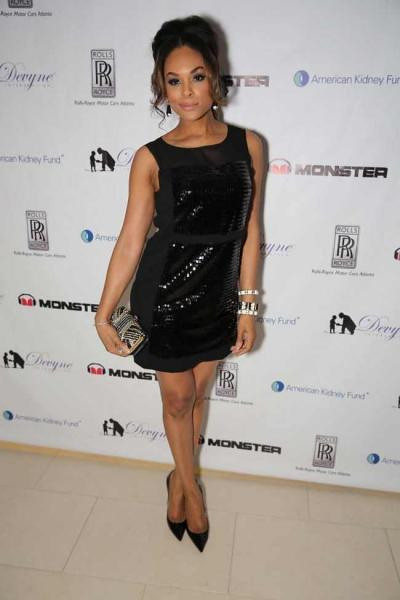 "Demetria McKinney attends ""DeVyne Stephens Holiday Affair"" on December 22, 2012"