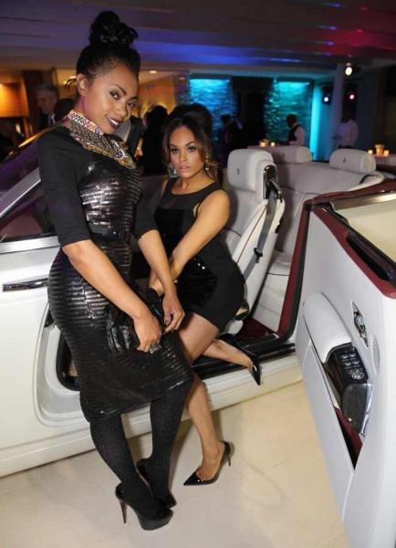 "Demetria McKinney and Kash Howard at ""DeVyne Stephens Holiday Affair"" on December 22, 2012"