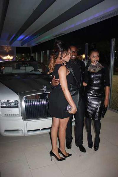 "Demetria McKinney, Devyne Stephens and Kash Howard at ""DeVyne Stephens Holiday Affair"" on December 22, 2012"