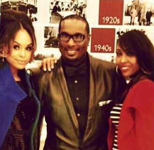"Demetria McKinney, Devyne Stephens and Aaliyah at ""DeVyne Stephens Holiday Affair"" on December 22, 2012"