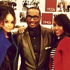 "Demetria McKinney, Devyne Stephens and Aaliyah at ""DeVyne Stephens Holiday Affair"" on December 22, 2012"