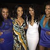 Autumn, Mimi Faust and Claudia Jordan attends her birthday celebration at Roche Bobois Paris Rooftop on August 27, 2015 in Atlanta, Georgia.