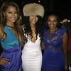 Claudia Jordan and Autumn attends Demetria McKinney's birthday celebration at Roche Bobois Paris Rooftop on August 27, 2015 in Atlanta, Georgia.