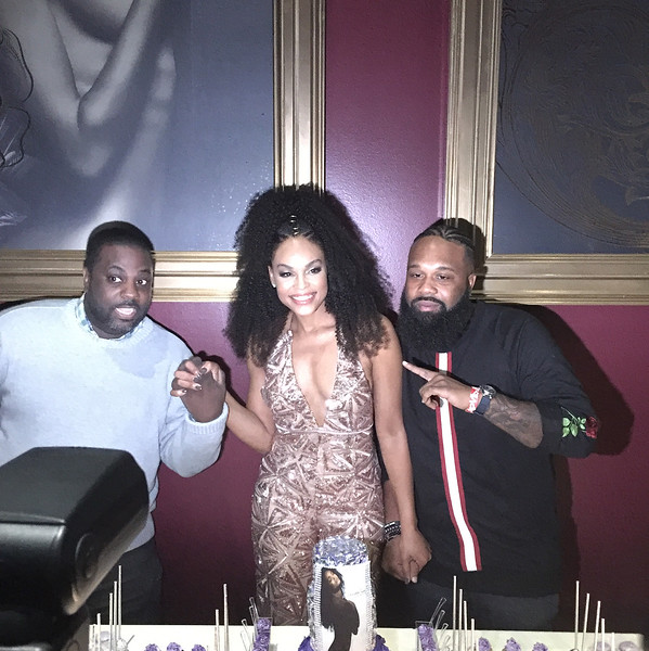 Travis Cherry and Blanco the Ear attend Demetria McKinney's 'Officially Yours' album release celebration at Revel on October 7, 2017 in Atlanta, Georgia.