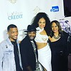 Tray Chaney and Tasia Grant attend Demetria McKinney's 'Officially Yours' album release celebration at Revel on October 7, 2017 in Atlanta, Georgia.