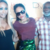 Cynthia Bailey, Demetria McKinney and Peter Thomas attends Demetria McKinney's Video Viewing Party - August 13, 2014