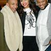 Victor Jackson, Demetria McKinney and Satchel J attend Keke Wyatt's fan appreciation celebration and R&B divas taping on January 14, 2014