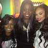 JDenelle, Kim Kimble & Demetria McKinney attends 'LA Hair' viewing party on August 15, 2013.