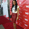 Demetria McKinney attends 'LA Hair' viewing party on August 15, 2013.