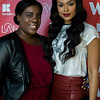 Dadria Hester and Demetria McKinney attends 'LA Hair' viewing party on August 15, 2013.