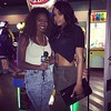 Isys and Demetria McKinney attends LudaDay Celebrity Bowling & Spades Tournament at Bowlmor Lanes on September 3, 2015 in Atlanta, Georgia