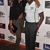 Demetria McKinney and Stan Mukoro attends LudaDay Celebrity Bowling & Spades Tournament at Bowlmor Lanes on September 3, 2015 in Atlanta, Georgia