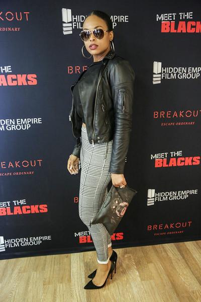 Demetria McKinney attend 'Meet the Blacks' Premiere - Celebrity Breakout - April 1, 2016