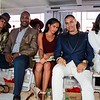 Lennox Lewis, Claudia Jordan, Demetria McKinney and Sandy Lal attend the Mitou Fashion Show - Spring 2016 New York Fashion Week - September 14, 2015 in New York City