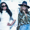 Claudia Jordan and Demetria McKinney attend the Mitou Fashion Show - Spring 2016 New York Fashion Week - September 14, 2015 in New York City