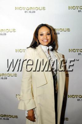 Demetria McKinney attends the screening of 'Notorious' at the Fork & Screen Buckhead - January 12 2009<br /> <br /> Clothes and coat by: Maria Harper