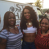 Demetria McKinney and Pat Gibson attend Old School Block Party - Woodruff Park - August 7, 2015 in Columbus, GA