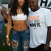 Demetria McKinney and Dominique Johnson attend Old School Block Party - Woodruff Park - August 7, 2015 in Columbus, GA