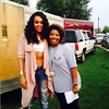 Demetria McKinney and Tori attend Old School Block Party - Woodruff Park - August 7, 2015 in Columbus, GA