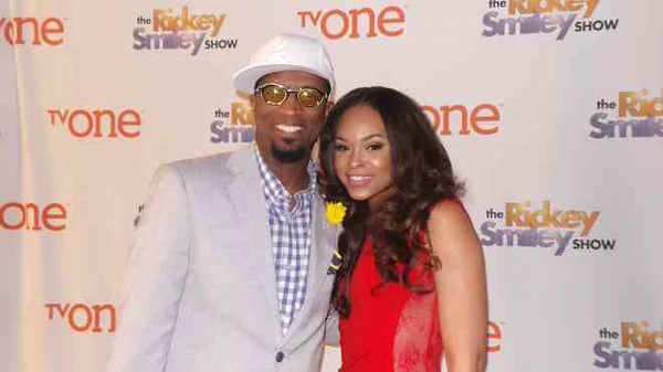 Rickey Smiley and  Demetria McKinney attends TV One's 'Rickey Smiley Show' Season 3 viewing party at the Venue on April 3, 2014 in Atlanta, Georgia.