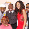 Rickey Smiley, Juicy, Gary With The Tea and  Demetria McKinney attends TV One's 'Rickey Smiley Show' Season 3 viewing party at the Venue on April 3, 2014 in Atlanta, Georgia.