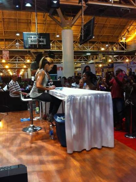 Demetria McKinney, Sign Autographs at the TNT/TBS: 2011 Essence Festival - Day 3 on July 3, 2011 in New Orleans, Louisiana.
