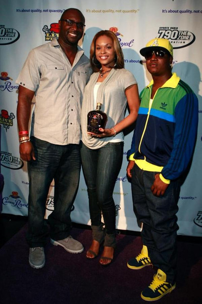 Roger Bobb, Demetria McKinney & Young Joc at the 2 Stew Purple & Gold Affair - August 7, 2010