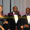 Demetria McKinney, Devyne Stephens and Mayor Kasim Reed at the 27th UNCF Mayor's Masked Ball, December 18, at the Atlanta Marriott Marquis