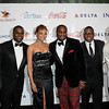 Akon, Demetria McKinney, Devyne Stephens at the 27th UNCF Mayor's Masked Ball, December 18, at the Atlanta Marriott Marquis