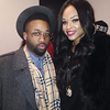 Jerzey and Demetria McKinney attend  The Art Of Luxury Grooming/Beauty Lounge Day Party - February 14, 2015 in New York City