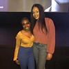 """Akiya Piercy and Demetria McKinney attends Tyler Perry's """"A Fall From Grace"""" VIP Screening at SCAD Show on January 09, 2020 in Atlanta, Georgia."""