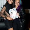 Demetria McKinney and Anje Collins attend 'Unnecessary Trouble' video debut party - Time Restaurant - September 29, 2015 in Atlanta, Georgia