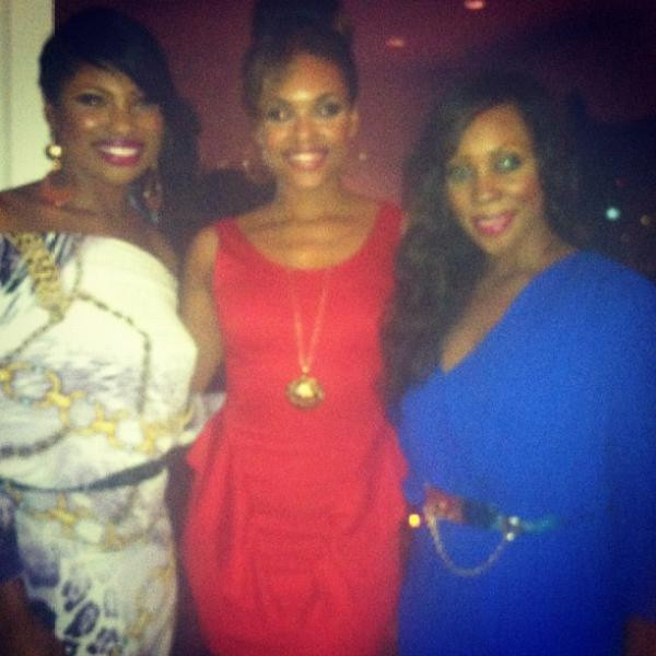 "LaTosha Lee, Demetria McKinney at the ""Uptown Magazine Editor's Reception Party"" on - May 14, 2012"