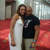 Demetria McKinney with Davy (from Next Stop Music) attend V103: Cars & Bike Show - July 11, 2009